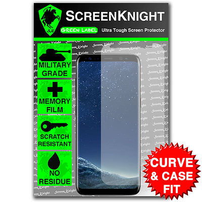 ScreenKnight Samsung Galaxy S8 FRONT SCREEN PROTECTOR - CURVED & CASE FIT