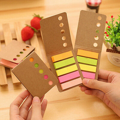 4x 480 sheet Sticker Flags Bookmark Page Marker Memo Index Tab Sticky Notes DSUK