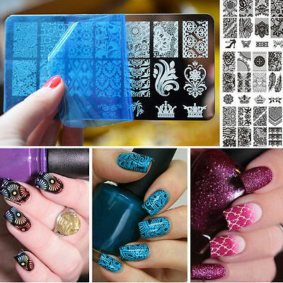Nagel Schablone Nail Art Stamp Stamping Template Plates BORN PRETTY