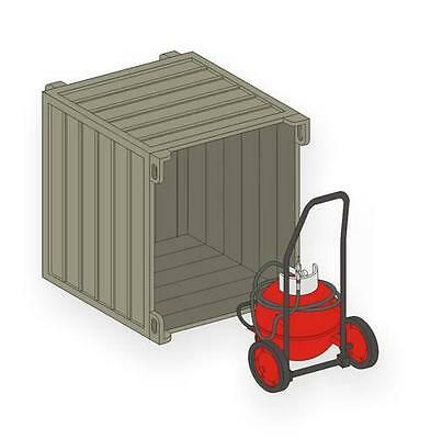 CMK MV111 Wheeled Fire Extinguisher PG 50 w/Transport Container in 1:72