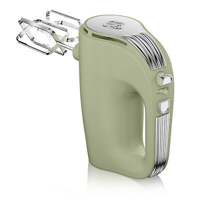 Swan Retro 5 Speed Settings 350W Electric Hand Mixer Kitchen Food Blender Green