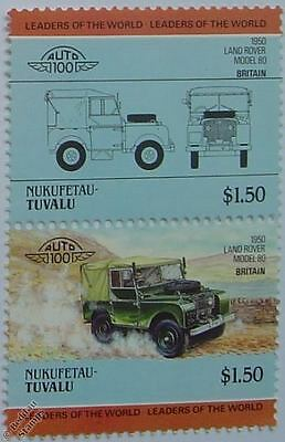 1950 LAND ROVER MODEL 80 Car Stamps (Leaders of the World / Auto 100)