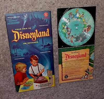 """NOS DISNEY 1950's SET:OPENING YEAR """"YOUR TRIP TO DISNEYLAND ON RECORDS"""""""