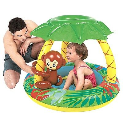 Jilong Monkey Baby Pool - children´s paddling pool with inflatable bottom and su
