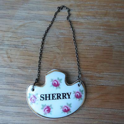 Royal Adderley Sherry Decanter Label Pretty Good Condition With Chain