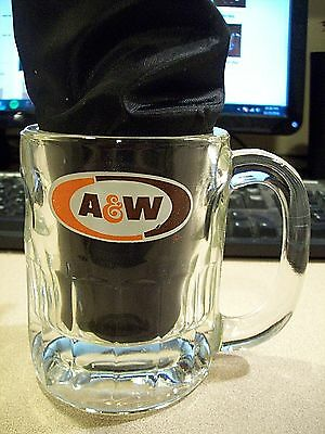 Vintage Medium A&W Root Beer Mug, Dimpled Shorty Super Great Pristine Condition!
