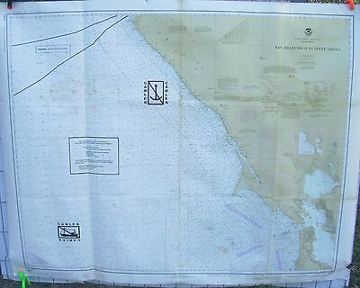 NOAA Nautical Chart Map #18640 CA San Francisco to Point Arena Aug 1979 AT&T