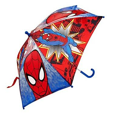 Disney Store Authentic Spiderman Umbrella Boys Super Hero Gift NWT!
