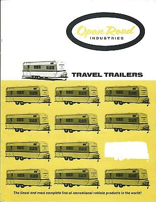 Travel Trailer Brochure - Open Road - Product Line Overview - c1970's (TL21)