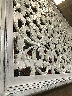 Balinese Hand Carved Wooden Bed Head #1874