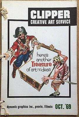 Vtg Clipper Creative Iconic American Commercial Art Large Format Book Oct. 1969