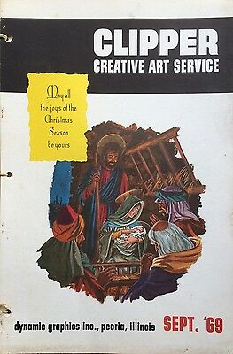 Vtg Clipper Creative Iconic American Commercial Art Large Format Book Sept. 1969