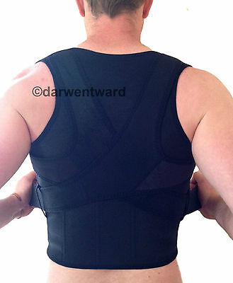 New Back Support Brace Posture Double Pull Strap Correction Neoprene Lumbar Belt