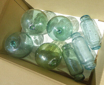 Vintage Japanese Glass Fishing Float Variety Lot 7
