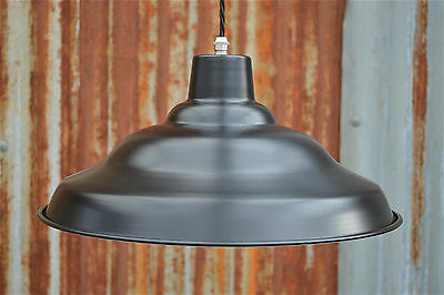 Cool retro styled black factory hanging light pendant metal lamp shade BFSR4