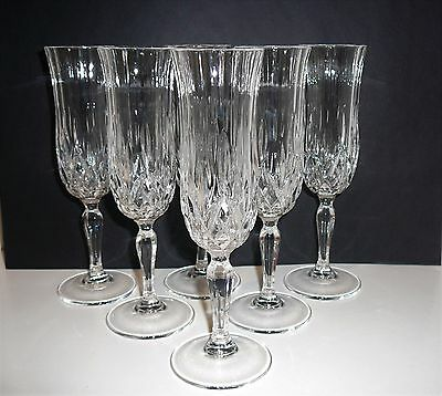 Crystal Champagne Flutes x 6 Glasses Weddings Parties Drinks Quality Celebration