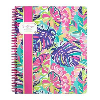 LILLY PULITZER Large Spiral Notebook-EXOTIC GARDEN- school paper New
