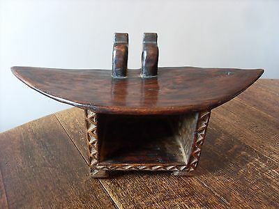 Superb Antique Hand Carved African Bamum People Of Cameroon Wooden Tribal Stool