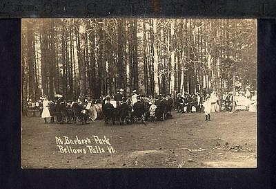 1910 Bellows Falls BARBERS PARK BRASS BAND CONCERT Real Photo Postcard VT RPPC
