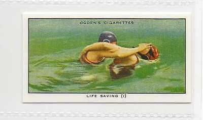 #32 life saving (i) method of release swimming r card