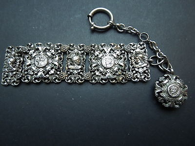 N354 Antique Very  Nice  Detailed Pocket  Watch  Chatelaine See Descr