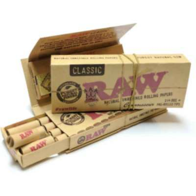 RAW Connoisseur 1 1/4 (1.25) Size & Pre Rolled Tips Filter Roach Multi Buy