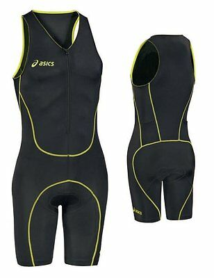 Mens asics all in one Body suit  triathlon Triathletes Black Sleeveless Medium M