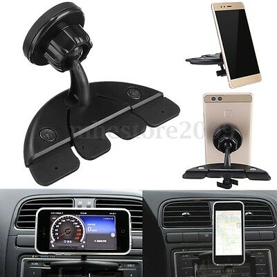 360°Car CD Player Slot Magnetic Tablet Mount Holder For Iphone iPad Mini Air GPS