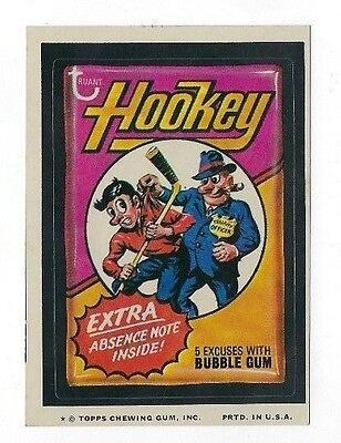 1974 Topps Wacky Packages 9th Series 9 HOOKEY nm- o/c