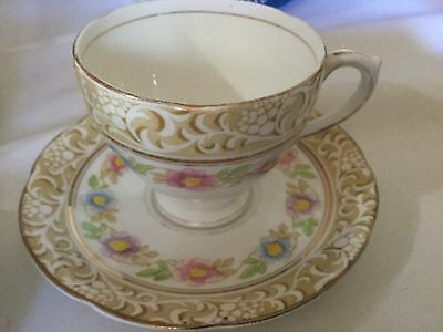 Royal Standard Bone China  Cup And Saucer England     Grecian Pattern