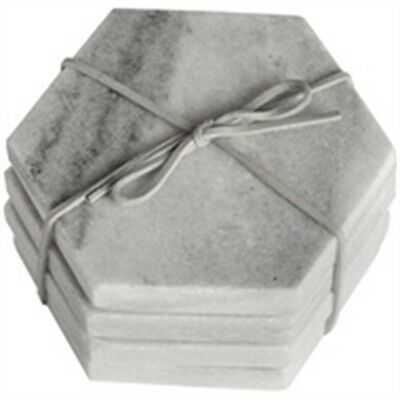 Grey Marble Hexagonal Coaster
