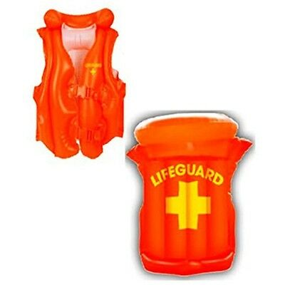 Inflatable Adult Lifeguard Vest - Adult Fancy Dress Accessory - Jacket Watch