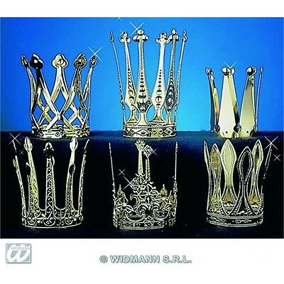 Crown Aluminium Accessory For Medieval Royalty Fancy Dress