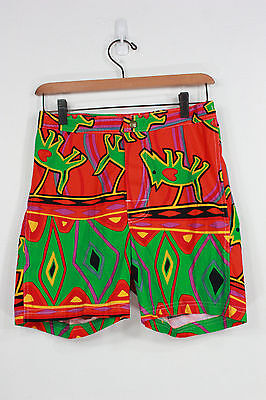 Vintage Jams world shorts 28 new 90's 80's dogs surf board original neon cotton
