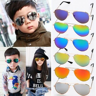 Fashion Kids Baby Boys Girls Children Classic Sunglasses Aviator Outdoor Glasses