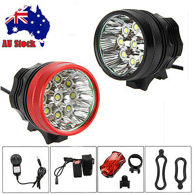 9x XM-L T6 LED 20000Lm LED Mountain Bike Headlamp Bicycle Front Light Torch