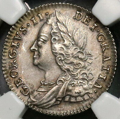1757 NGC UNC Silver 6 Pence George II GREAT BRITAIN Coin (16110409C)