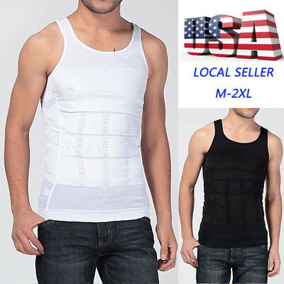 42fed7ee44b4d Men Body Shaper Slimming Trainer Shirt Tummy Waist Vest Lose Weight  Underwear SF