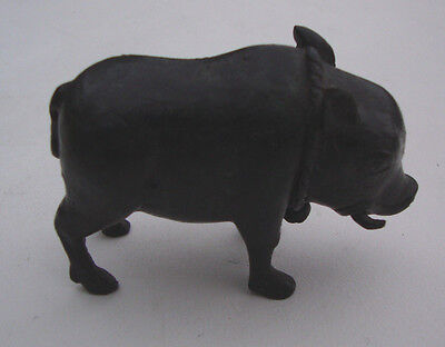 Antique cast bronze model of a pig