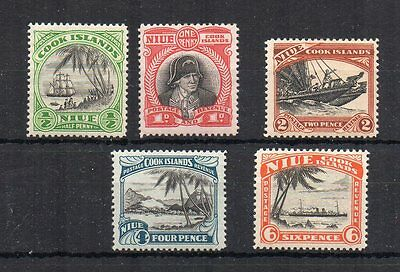 New Zealand - Niue 1932 values to 6d MH