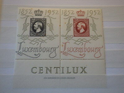 Timbres LUXEMBOURG LUXEMBURG Centilux 1952 Mi 488 489 / Yt 453 454 Neufs **