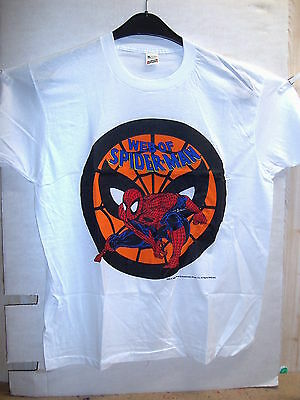 Vintage T-Shirt: Web of Spider-Man (Alex Saviuk, white) (L) (USA, 1989)