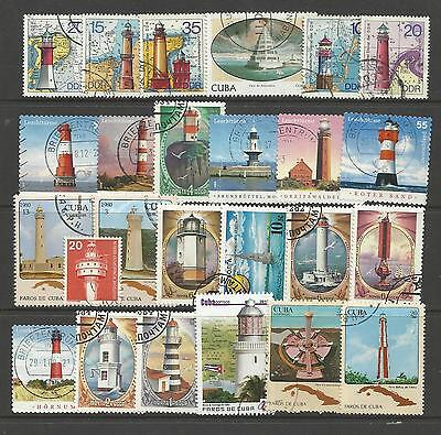 LIGHTHOUSES Collection Packet 25 Different WORLD Stamps