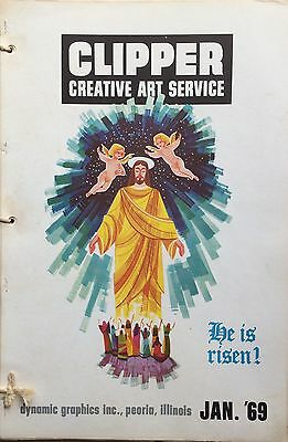 Vtg Clipper Creative Iconic American Commercial Art Large Format Book Jan. 1969