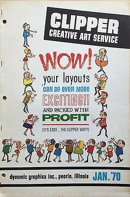 Vtg Clipper Creative Iconic American Commercial Art Large Format Book Jan. 1970