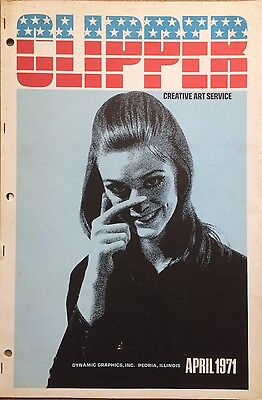 Vtg Clipper Creative Iconic American Commercial Art Large Format Book April 1971
