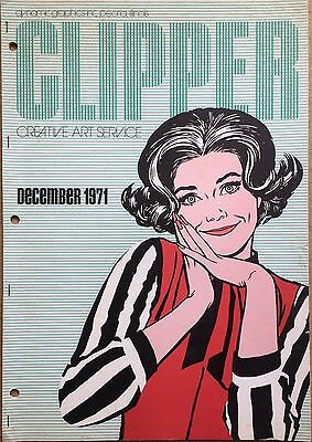 Vtg Clipper Creative Iconic American Commercial Art Large Format Book Dec 1971