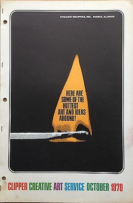 Vtg Clipper Creative Iconic American Commercial Art Large Format Book Oct 1970