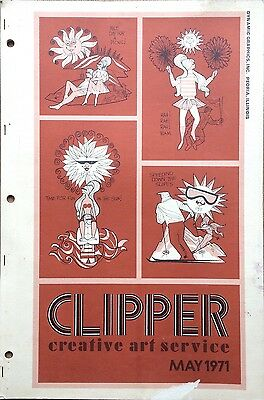 Vtg Clipper Creative Iconic American Commercial Art Large Format Book May 1971