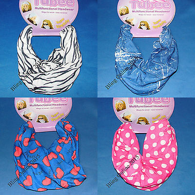 Tubee Multi Head Neck Wear Tube Sacrf Snood Bandana Wrap Cap Balaclava Headband